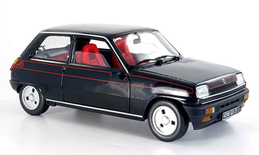 Renault 5 Alpine 1/18 Solido black 1977 diecast model cars