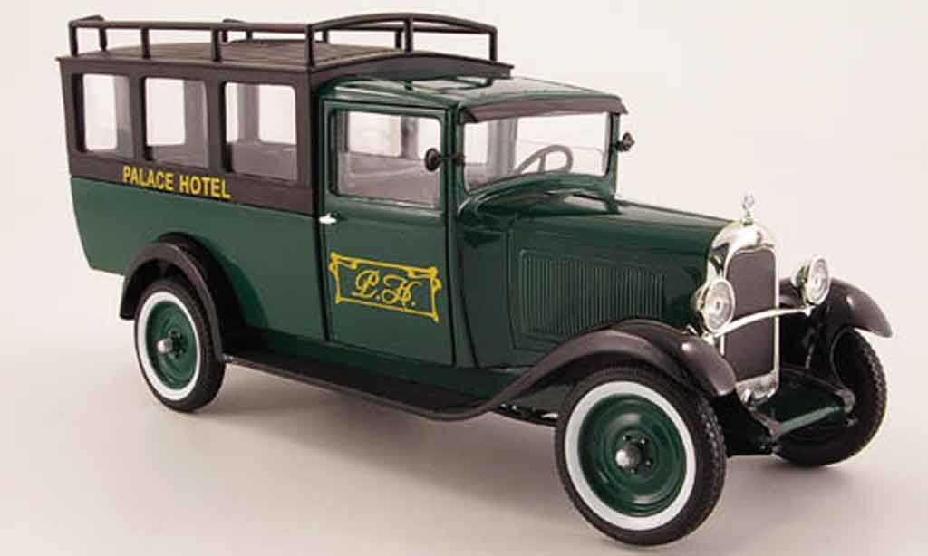 Citroen C4 1930 1/18 Solido f palace hotel green/black diecast
