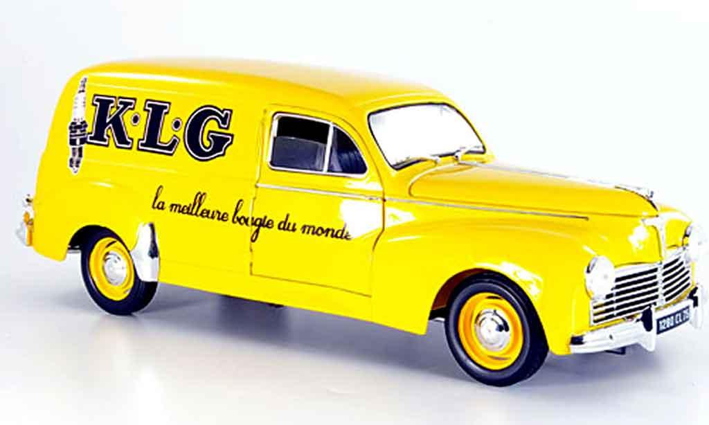 Peugeot 203 Fourgonette 1/18 Solido kombi klg giallo 1954 miniatura