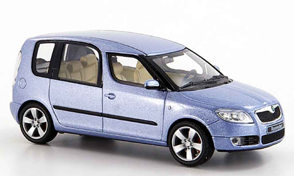 Skoda Roomster 1/43 Abrex grise metallisee bleu 2006 miniature