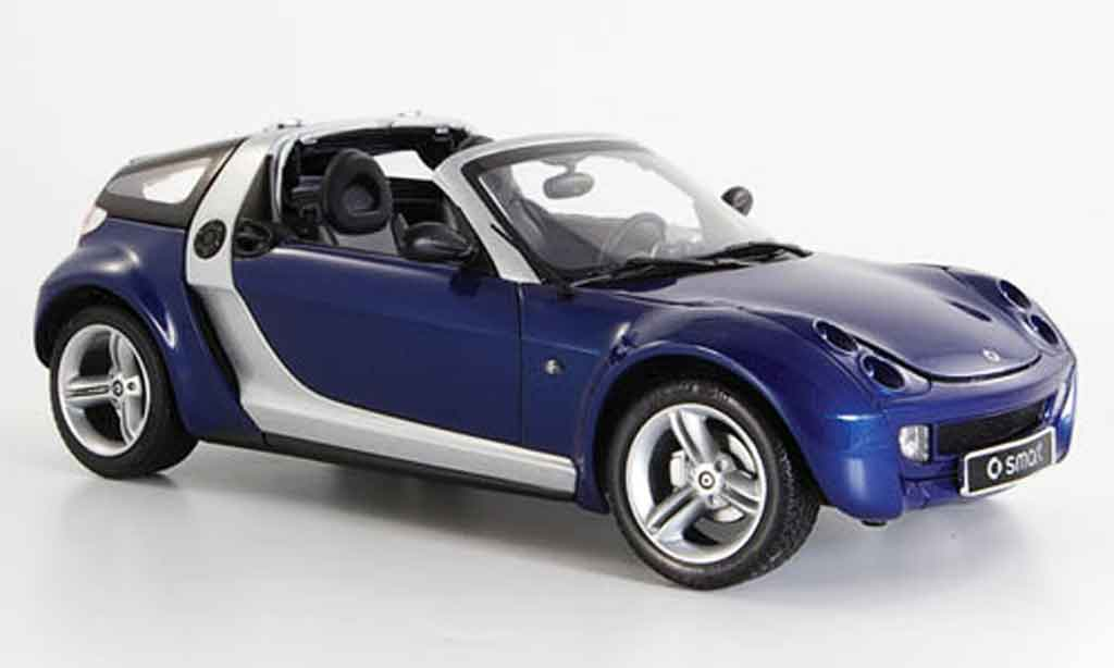 Smart Roadster 1/18 Kyosho coupe bleu 2003 miniature