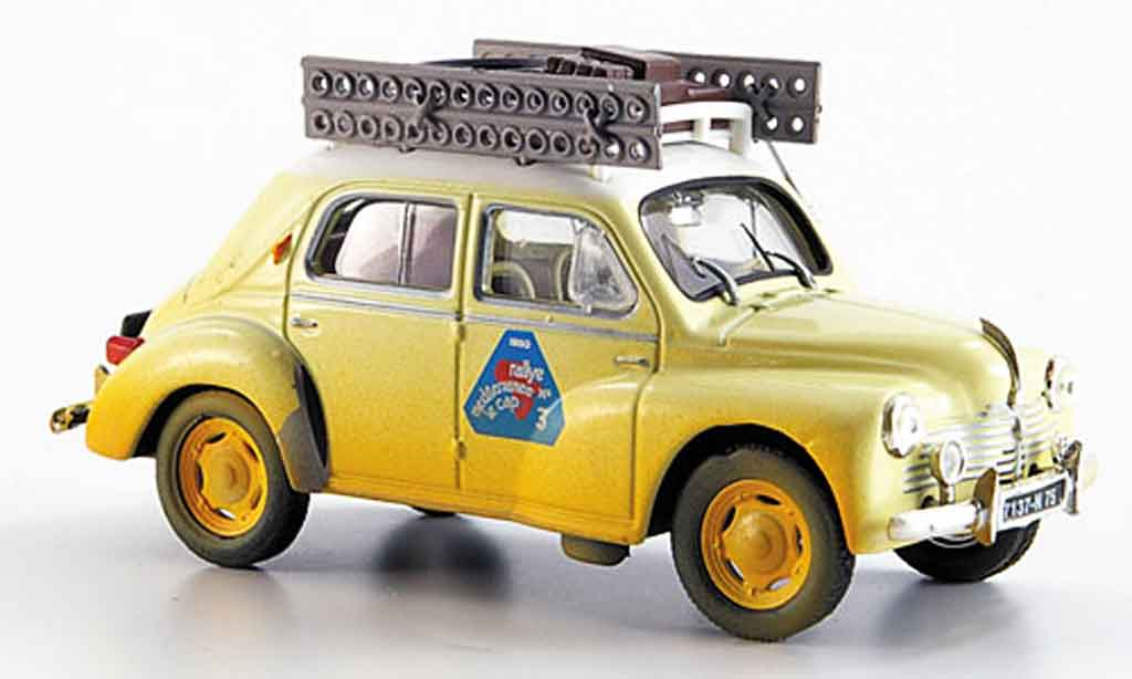Renault 4CV 1/43 Eligor rallye mediteranee 1950 miniature