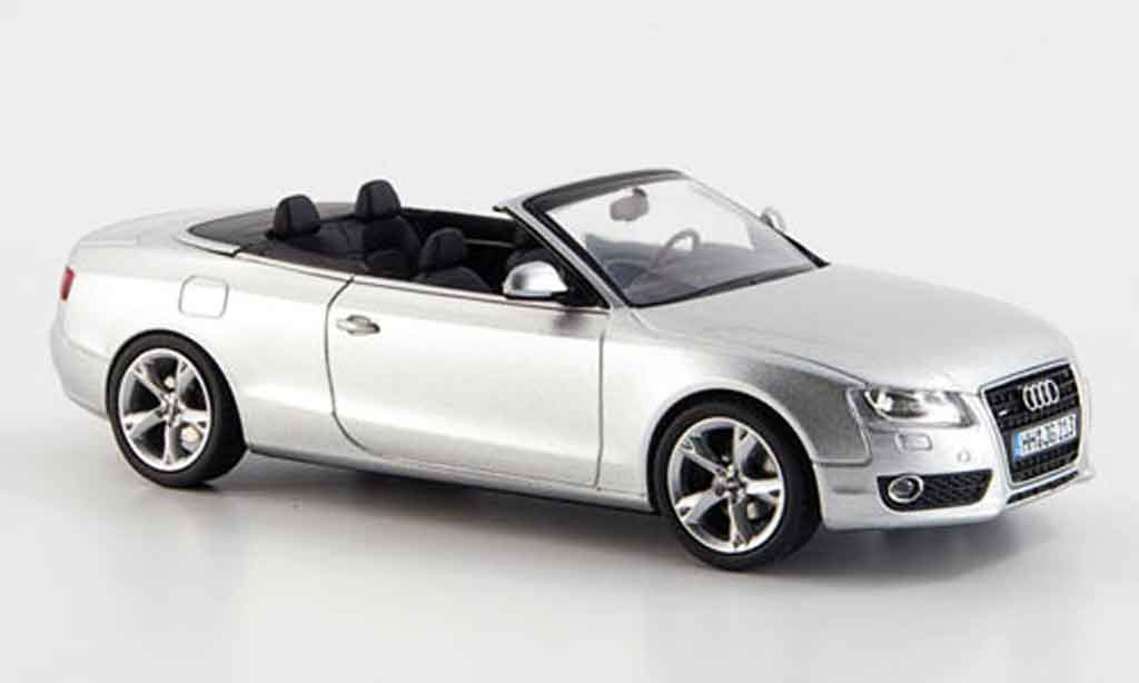 Audi A5 1/43 Schuco A5 Cabriolet grise metallisee