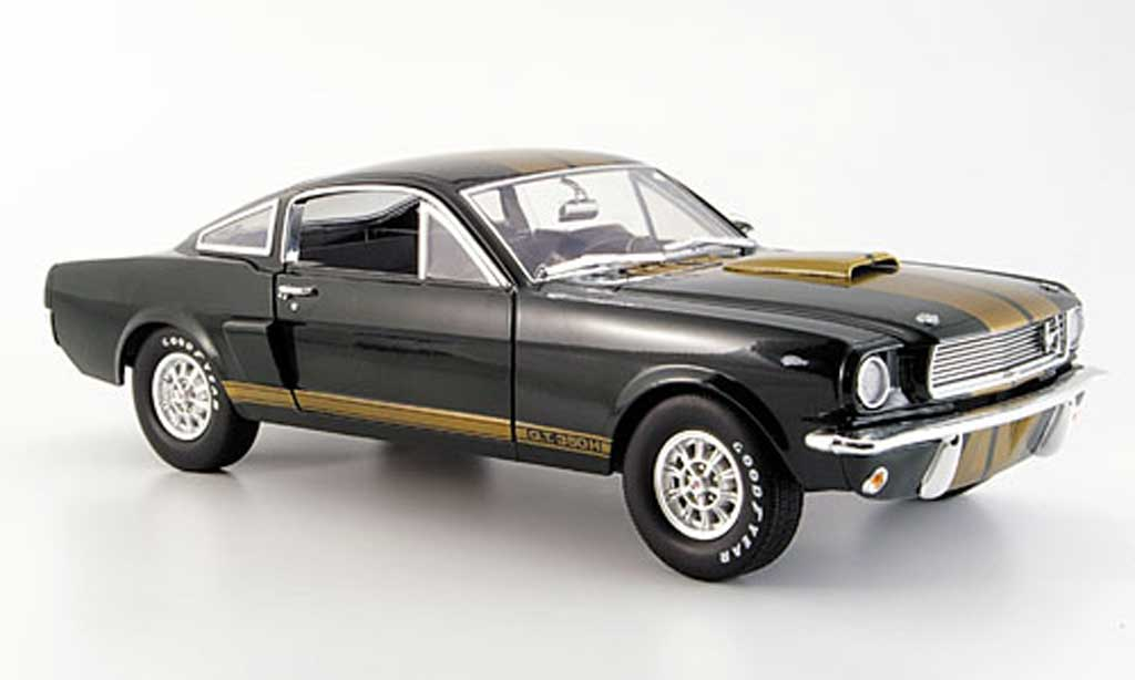 Shelby GT 350 1966 1/18 Shelby Collectibles verde or miniatura