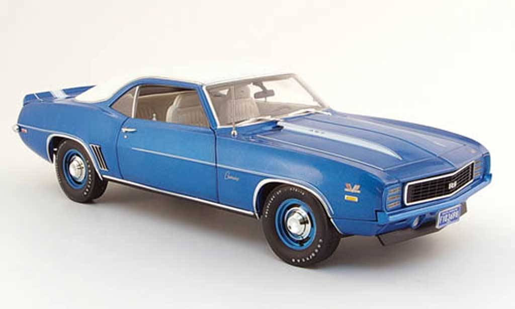 Chevrolet Camaro ZL1 1/18 Highway 61 zl-1 copo rs 427 bleu bianca 1969 miniatura