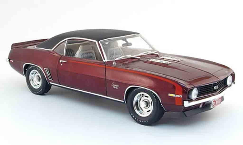 Chevrolet Camaro SS 1/18 Highway 61 350 red black 1969 diecast model cars