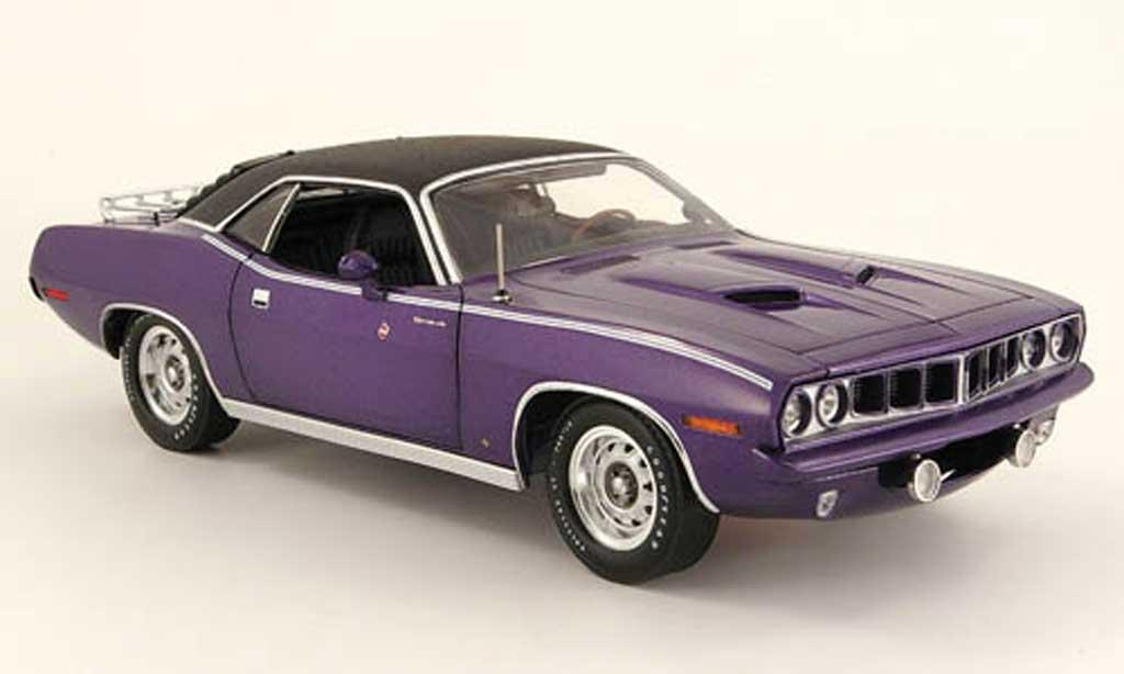 Plymouth Gran Barracuda 1/18 Highway 61 violette noire 1971 miniature