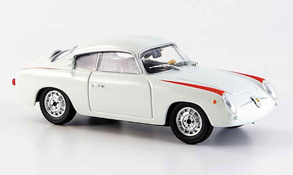 Fiat 750 1/43 Starline Abarth blanche 1956 miniature