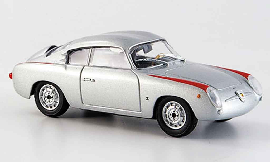 Fiat 750 1/43 Starline Abarth grise metallisee 1956 miniature