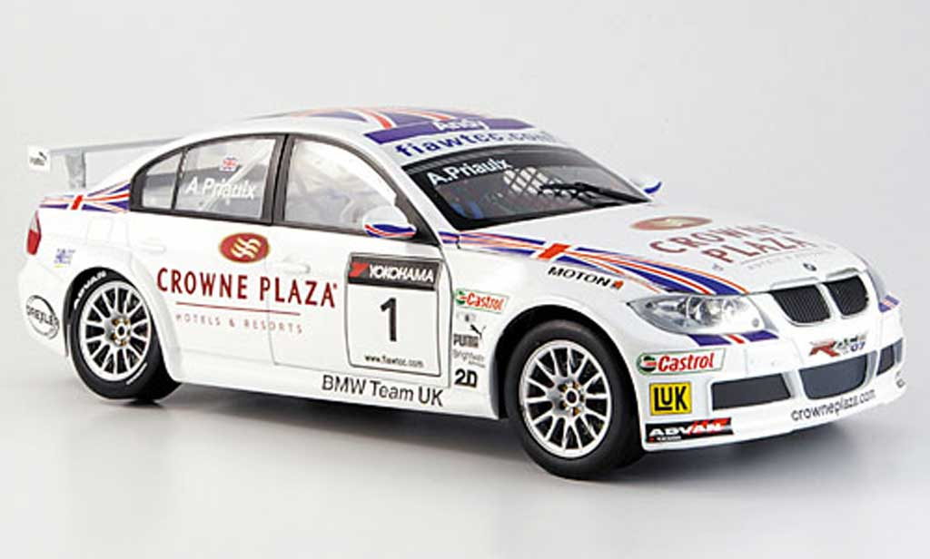 Bmw 320 E90 1/18 Guiloy si no.1, priaulxr WTCC miniature