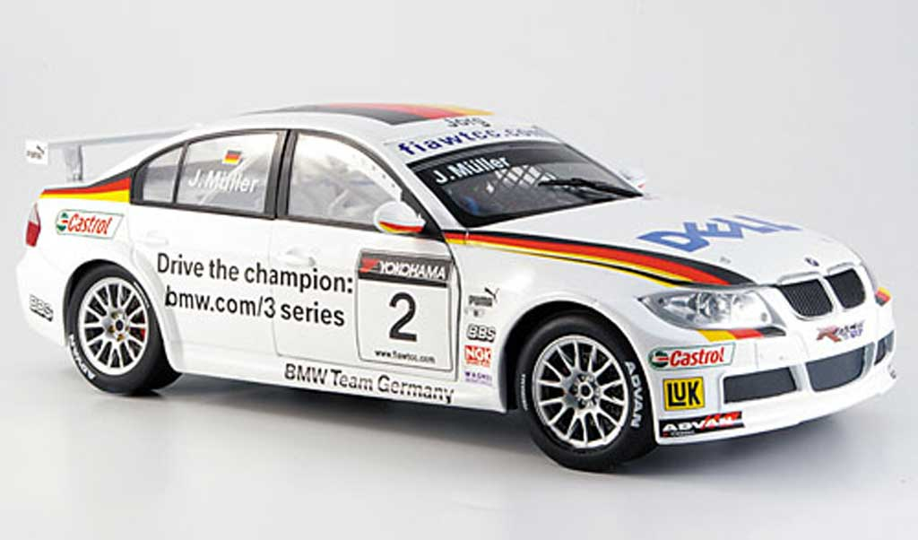 Bmw 320 E90 1/18 Guiloy si no.2 muller WTCC miniature