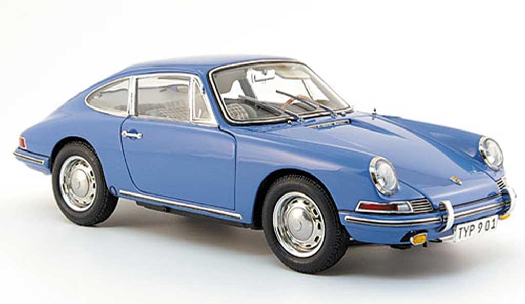 Porsche 901 1964 1/18 CMC (serie) bleu innenausstattung grise miniature