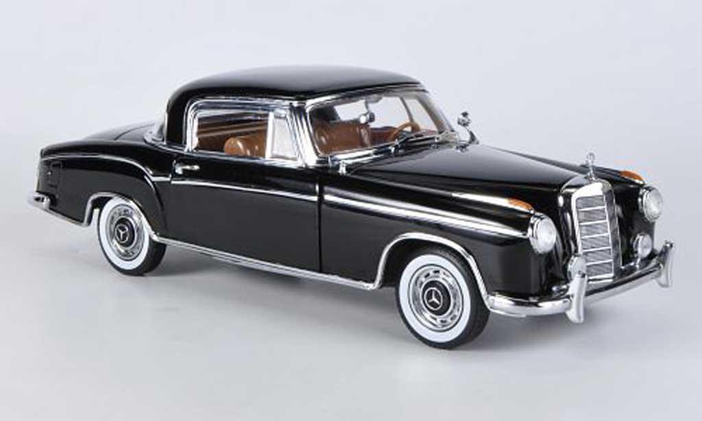 Mercedes 220 1/18 Sun Star SE Coupe noire 1958 miniature