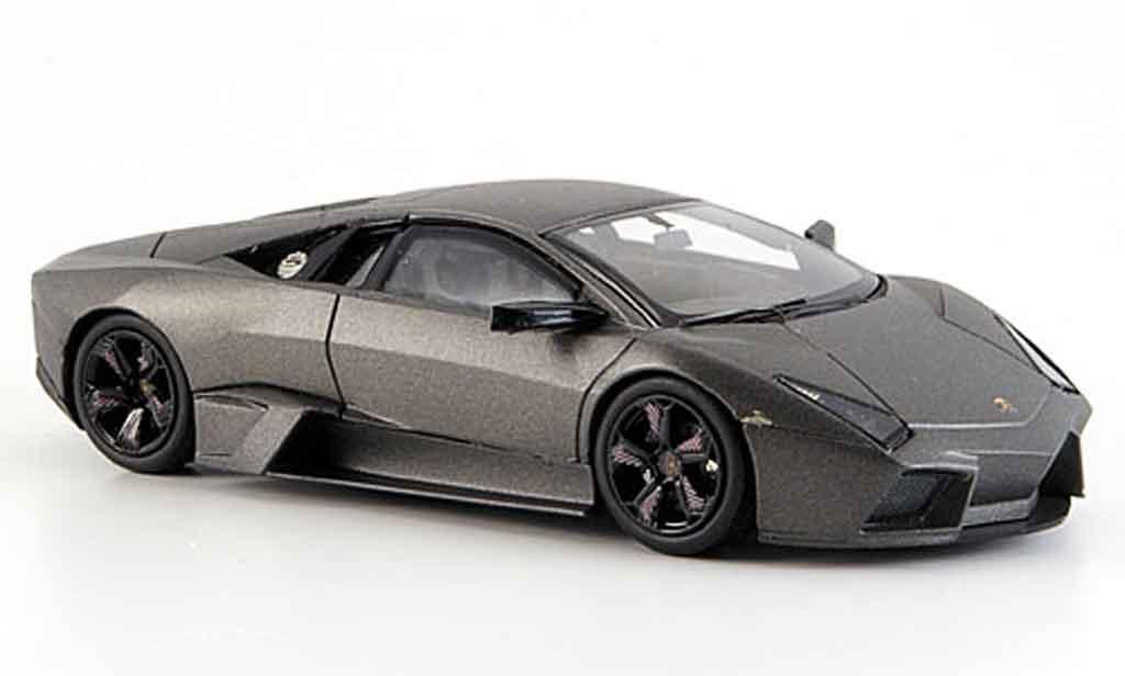 Lamborghini Murcielago Reventon 1/43 Hot Wheels grigia miniatura