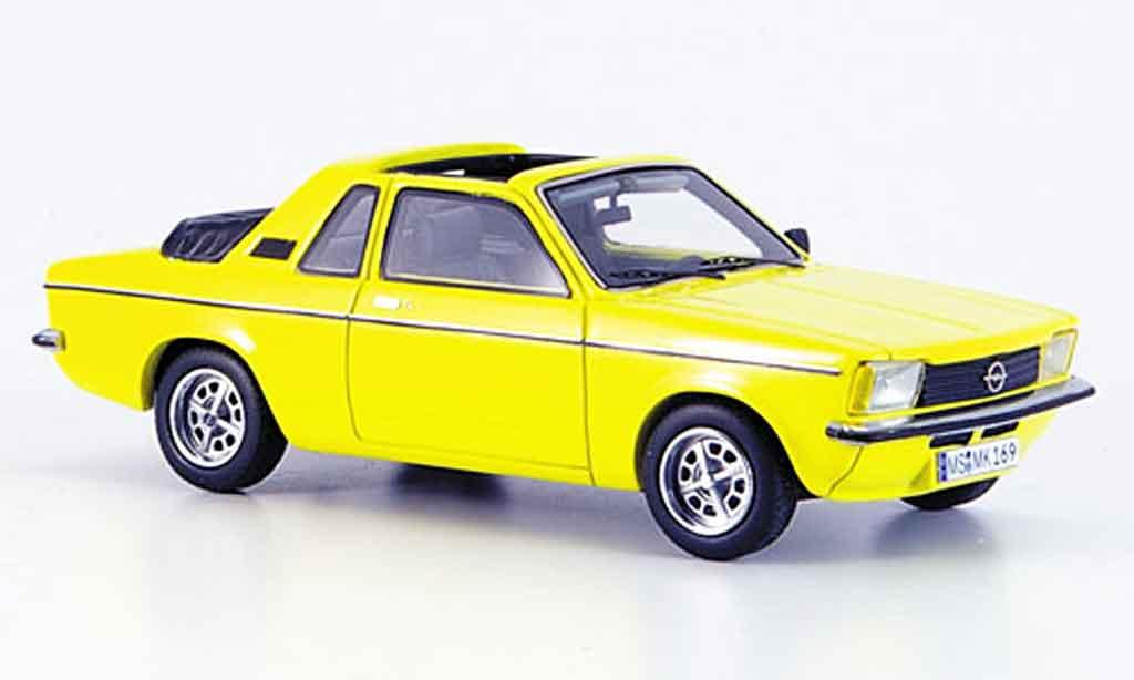 Opel Kadett C 1/43 Neo aero jaune 1978 miniature