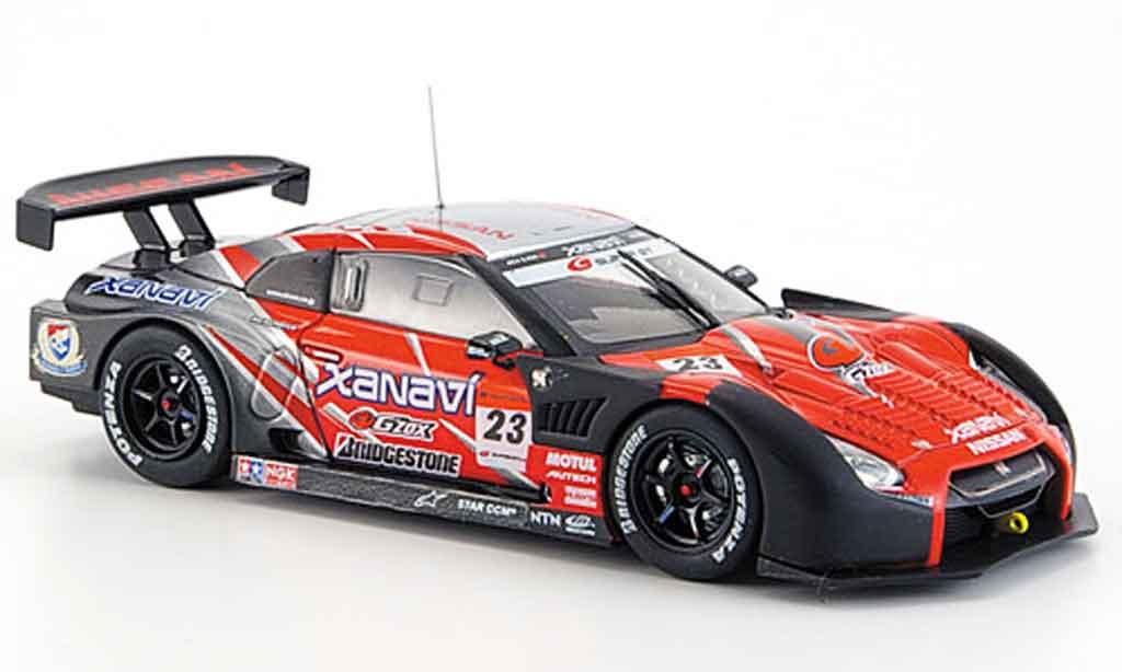 Nissan Skyline R35 1/43 Ebbro JGTC GT R Xanavi Nismo No.23 Testcar Fuji Super GT 2008 miniature