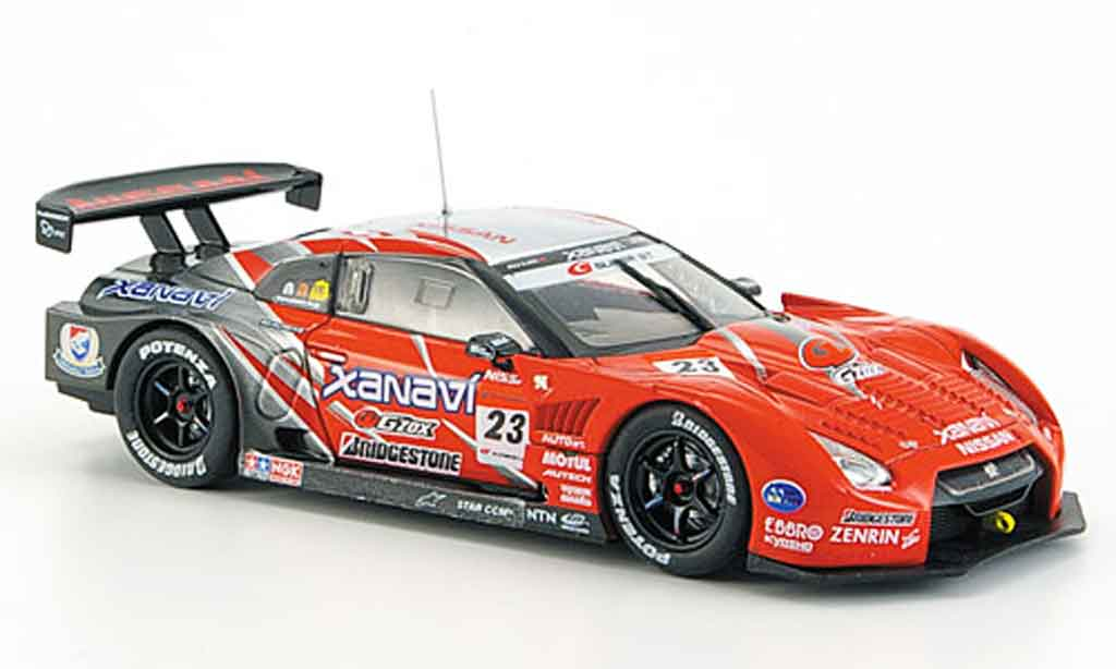 Nissan Skyline R35 1/43 Ebbro JGTC GT R Xanavi Nismo No.23 Fuji Super GT 2008 miniature