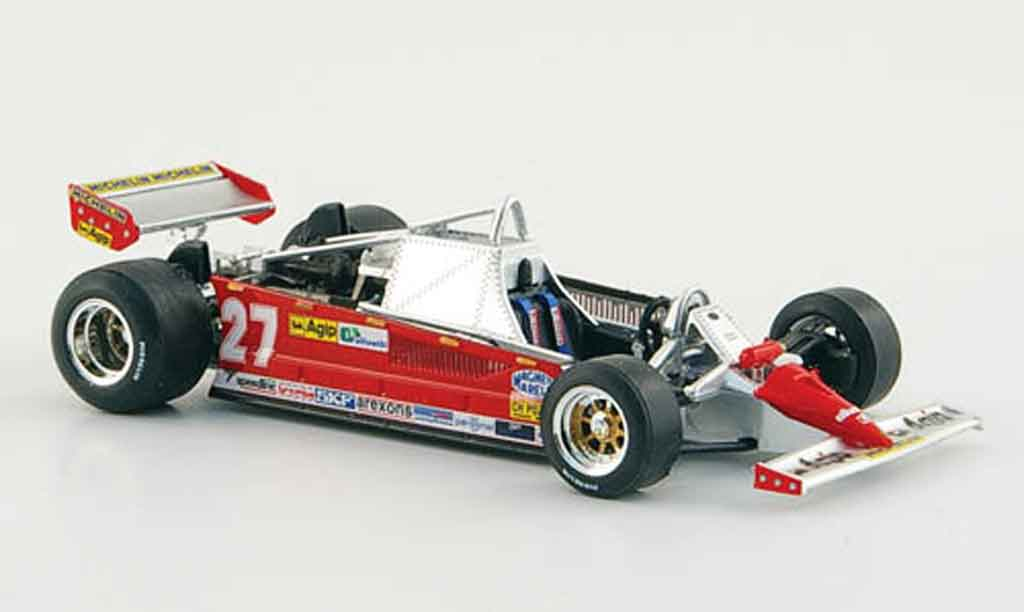 Ferrari 126 1981 1/43 Brumm CK turbo no.27 g.villeneuve gp monaco miniature