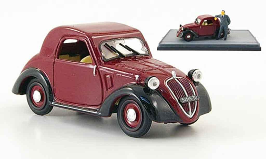 Fiat 500 1/43 Brumm A Topolino  rouge noire 1936 miniature