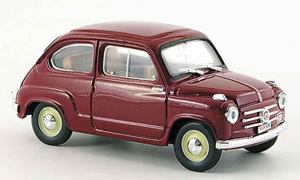 Fiat 600 1/43 Brumm Polizia Stradale police 1955 miniature
