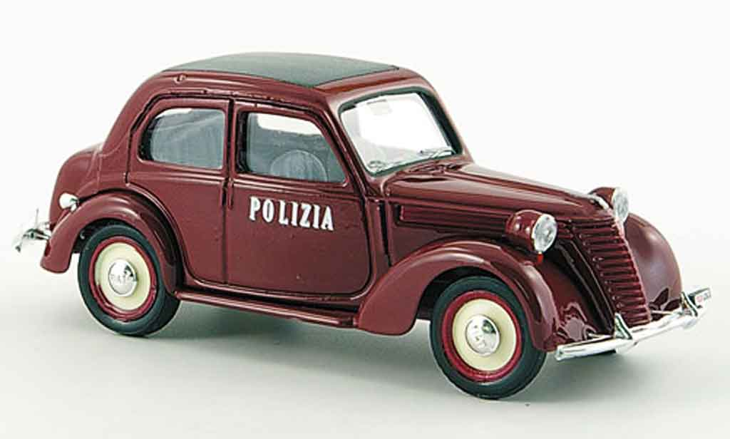 Fiat 1100 1950 1/43 Brumm E Polizia Stradale police  miniature