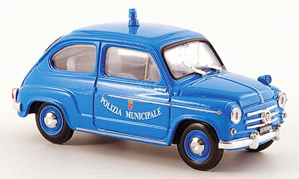 Fiat 600 1/43 Brumm D Polizia Municipale Roma police 1960 diecast
