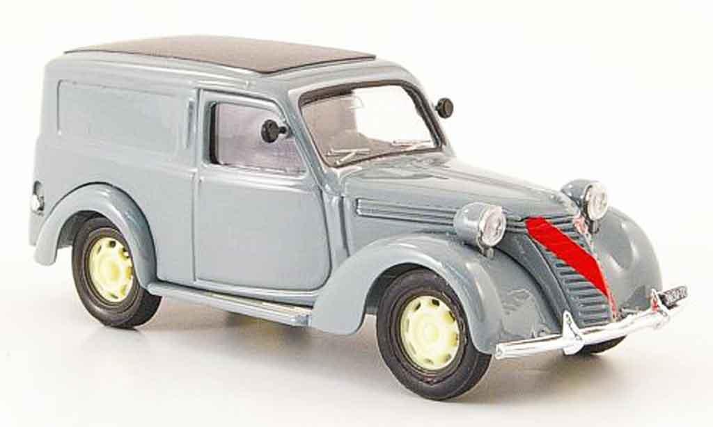 Fiat 1100 1947 1/43 Brumm Furgone grise miniature