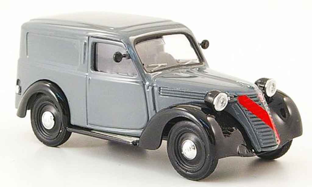Fiat 1100 1947 1/43 Brumm Furgone grise noire miniature