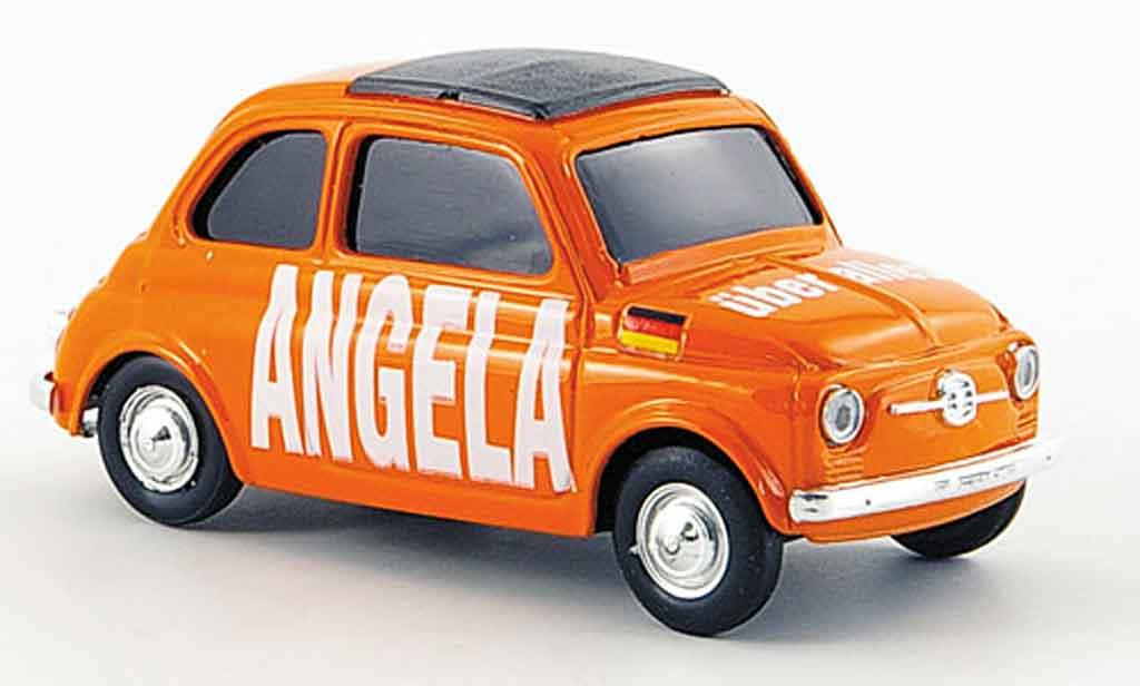 Fiat 500 1/43 Brumm Angela uber alles diecast model cars