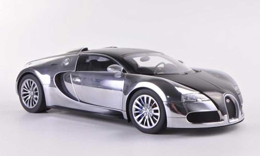 Bugatti Veyron 16.4 1/18 Autoart EB chrom/carbon Pur Sang Edition 2008 miniature