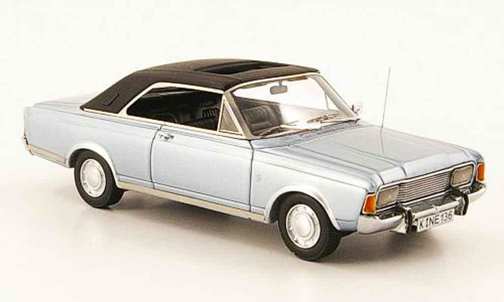 Ford Taunus 1971 1/43 Neo (P7b) 20M Coupe bleu noire miniature