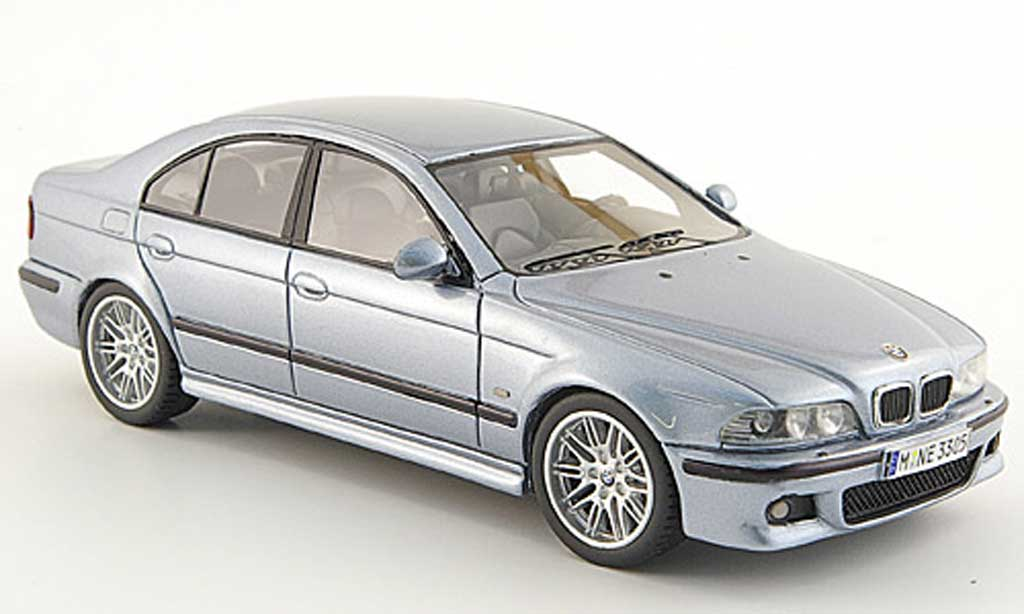 Bmw M5 E39 1/43 Neo argent bleu 2002 diecast model cars