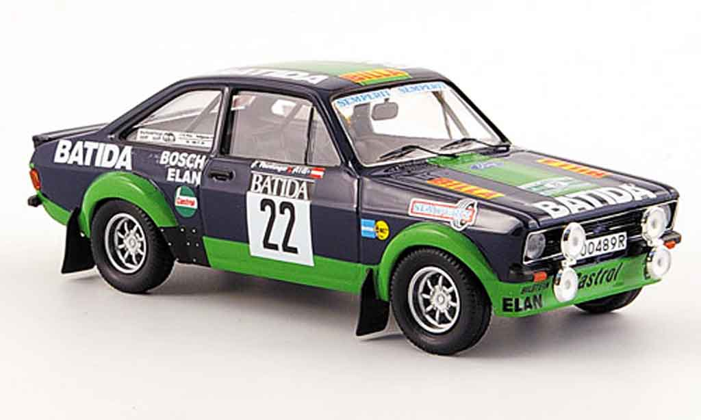 Ford Escort MK2 1/43 Trofeu BDA No.22 Batida Janner Rally 1980 miniature