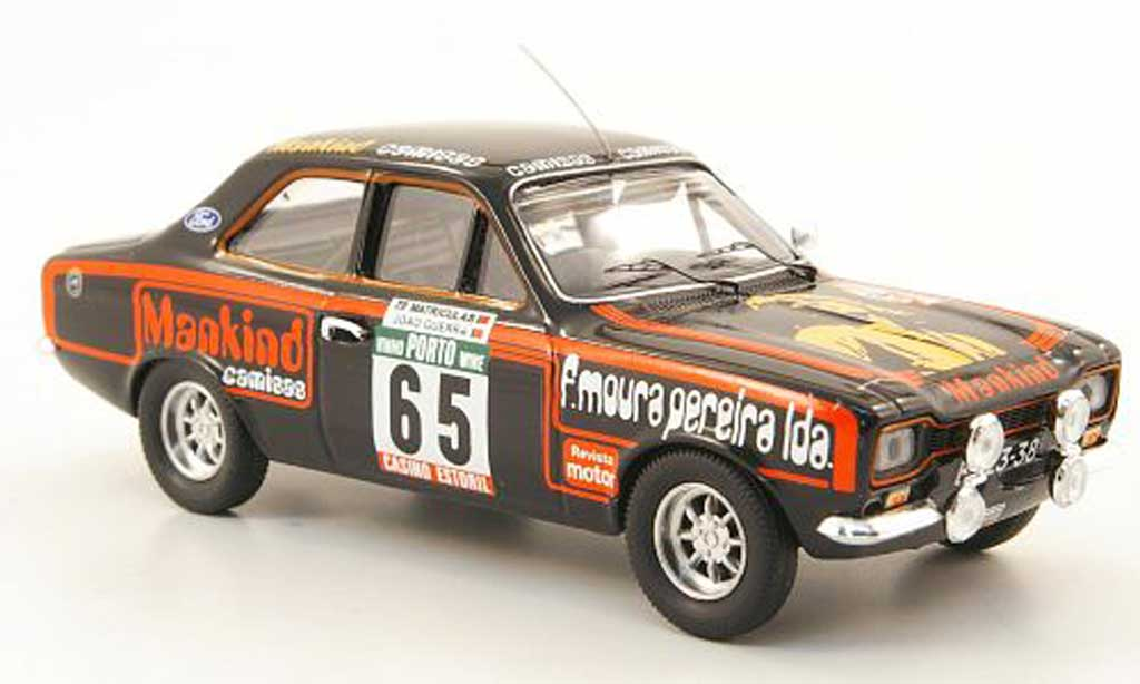 Ford Escort MK1 1/43 Trofeu No.65 Mankind Rally Portugal 1977 miniature