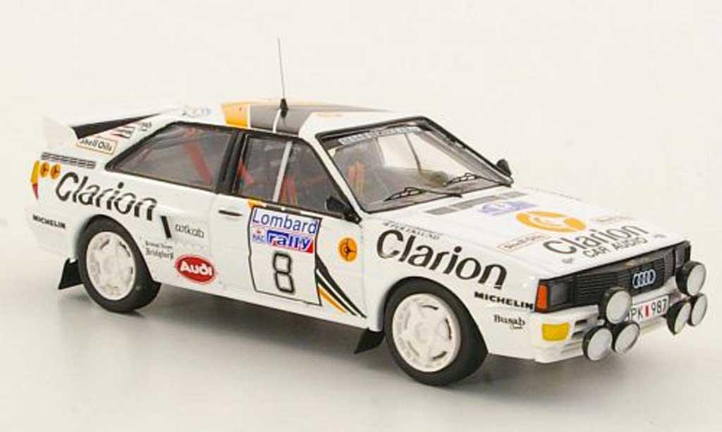 Audi Quattro 1/43 Trofeu No.8 Clarion Rally Grossbritannien 1985 miniature