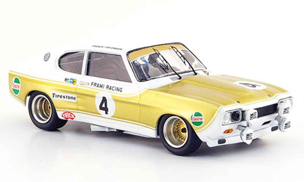 Ford Capri 1/43 Trofeu MK I 2600 No.4 Kent 24h Spa 1972 miniature