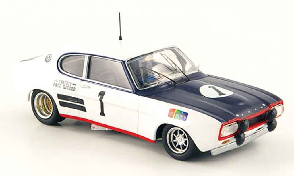 Ford Capri 1/43 Trofeu MK I  2600 No.1 6h Paul Ricard 1971 miniature