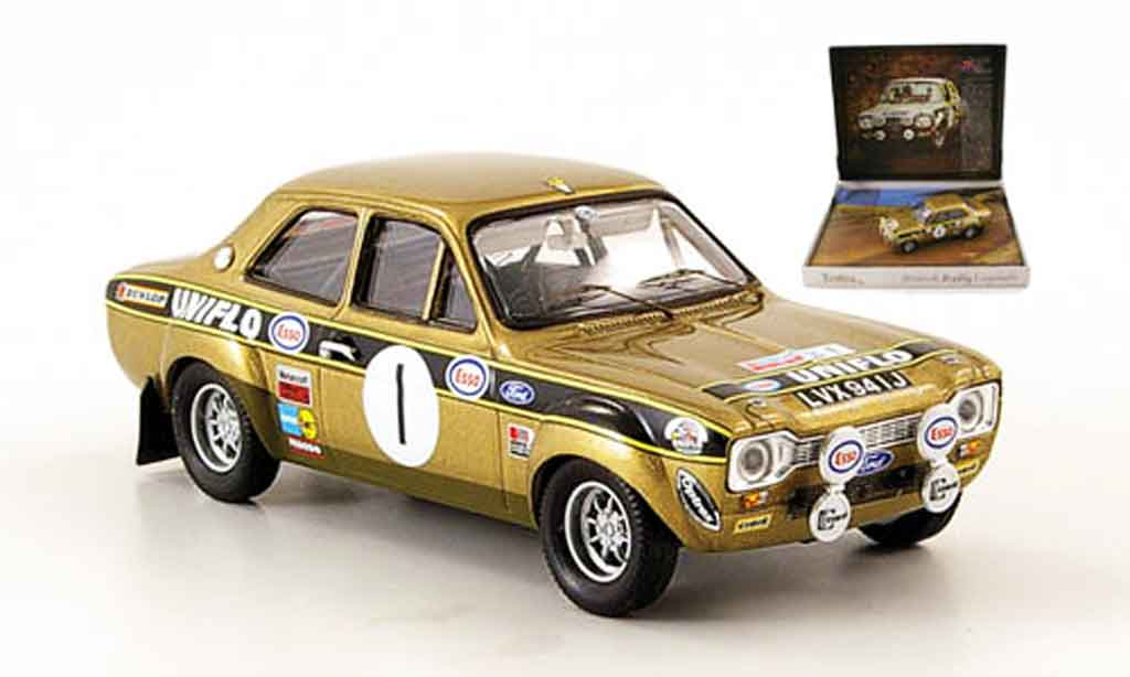 Ford Escort MK1 1/43 Trofeu No.1 Uniflo Sieger Dunkeries Rally 1972 miniature