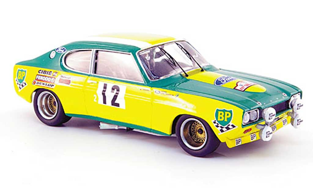 Ford Capri 2600 1/43 Trofeu  No.12 Siebter Platz Tour de Corse 1972 miniatura
