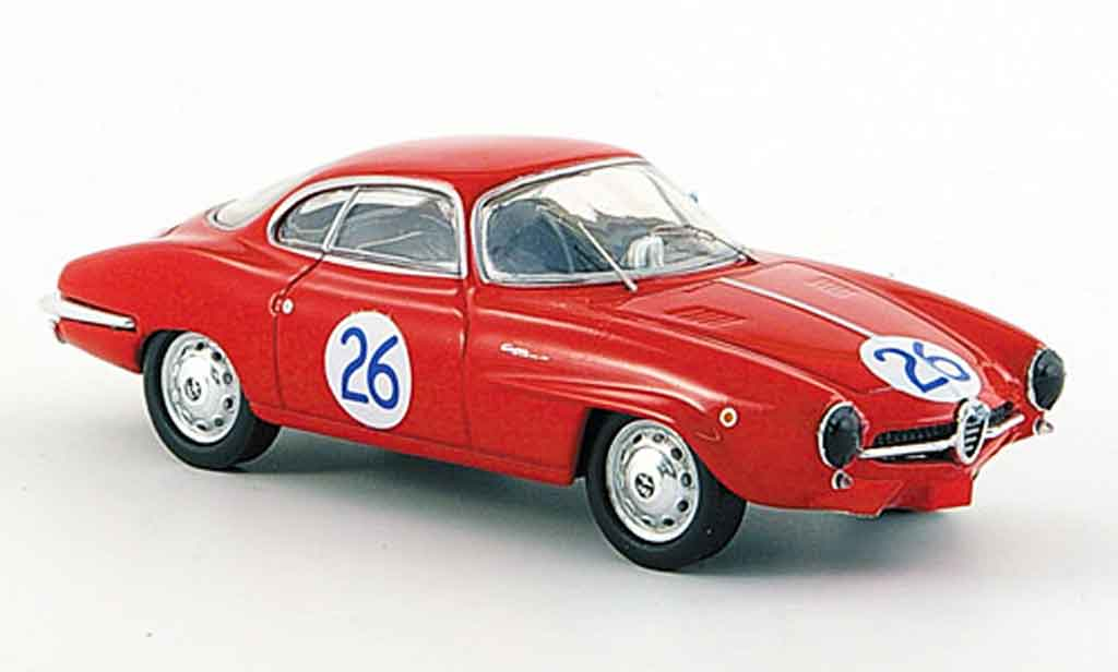 Alfa Romeo Giulietta Sprint 1/43 M4 speciale no.26 targa florio 1961 diecast model cars