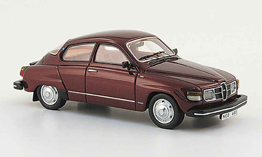 Saab 96 GL 1/43 Neo red 1979 diecast