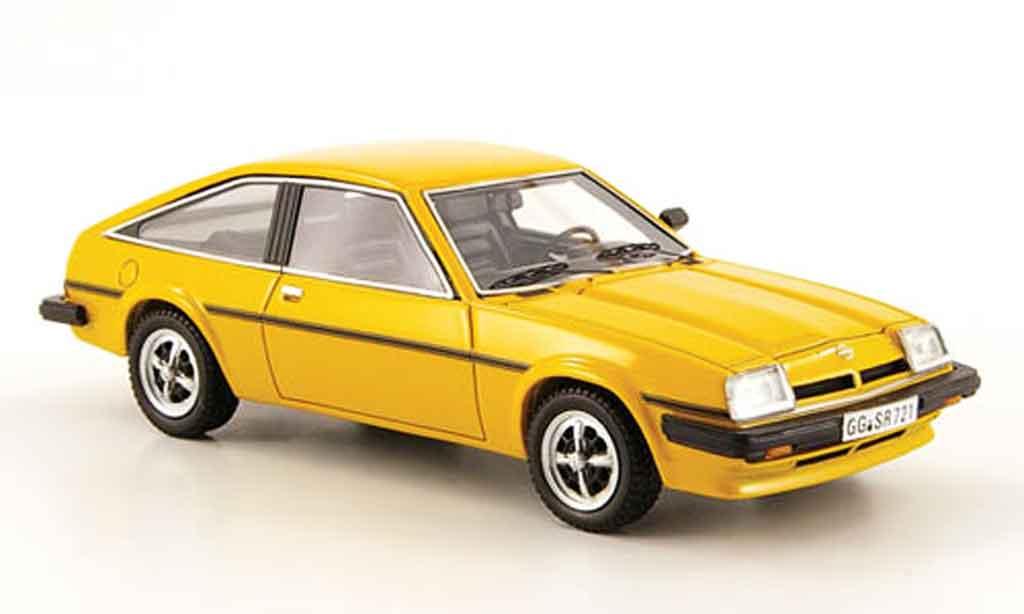 Opel Manta B 1/43 Neo cc sr jaune 1980 miniature