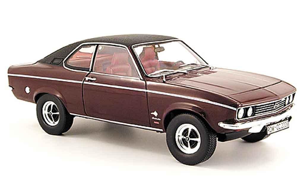 Opel Manta A 1/18 Norev berlinetta rouge/noire miniature