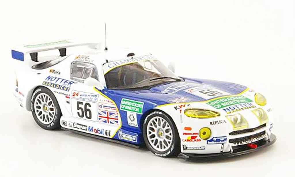 Dodge Viper GTS R 1/43 IXO No.56 Team Chamberlain 24h Le Mans 1999 miniature