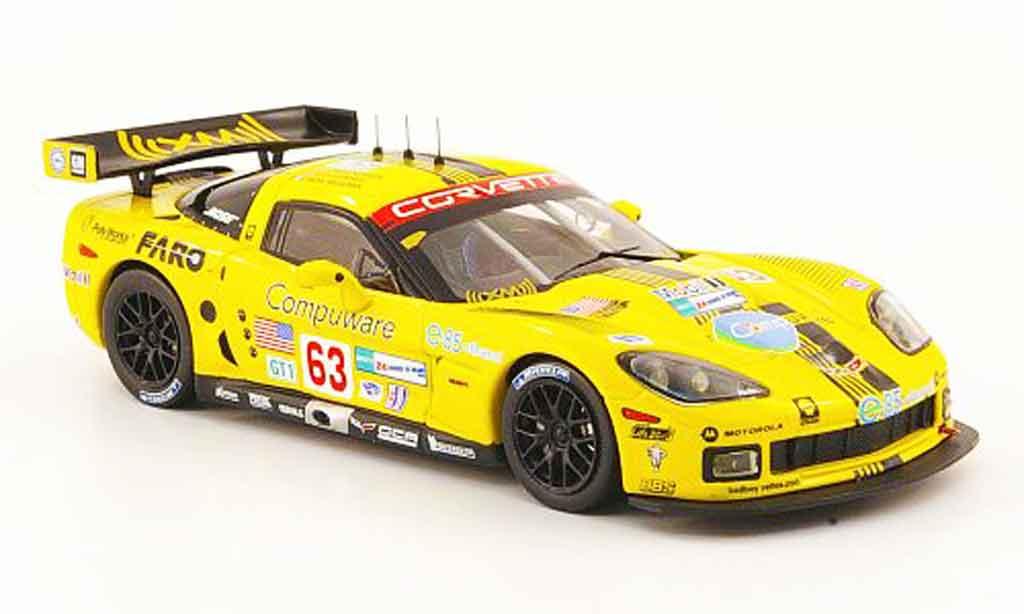 Chevrolet Corvette C6 1/43 IXO R No.63 Compuware 24h Le Mans 2008 miniature