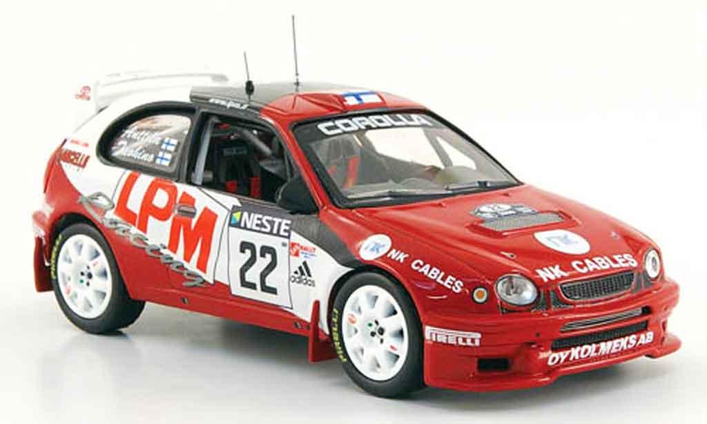 Toyota Corolla 1/43 IXO wrc no.22 rallye finland 2000 miniature