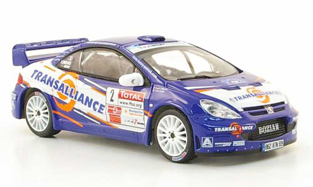 Peugeot 307 WRC 1/43 IXO No.2 Transalliance Rally Cevennes 2007 miniature