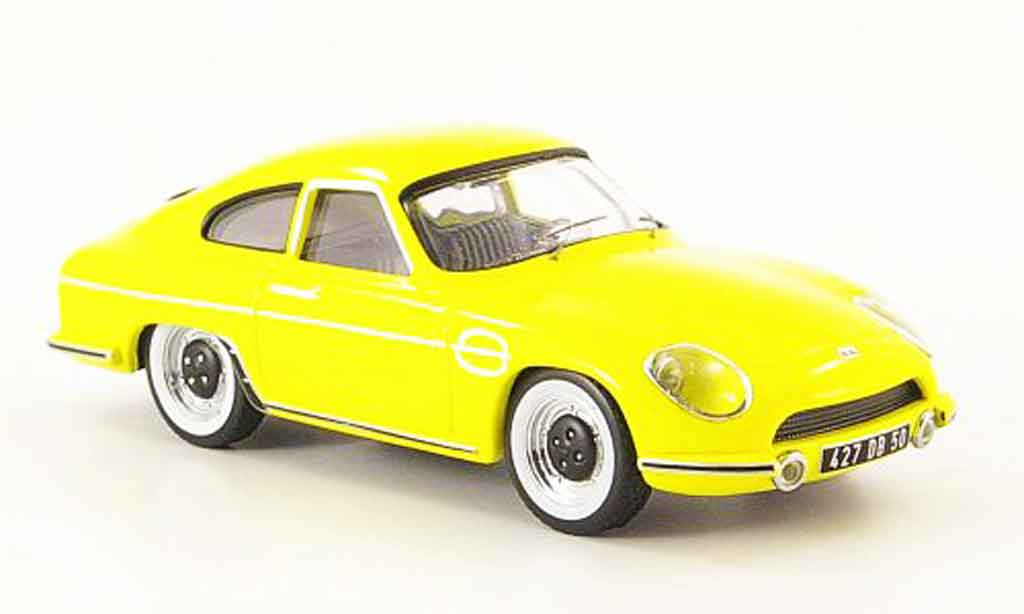 Panhard DB HBR 1958 1/43 IXO 5 amarillo miniatura