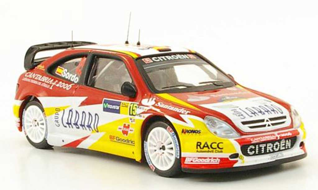Citroen Xsara WRC 2006 1/43 IXO No.15 RACC Rally Catalunya miniature