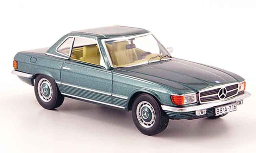 Mercedes 350 SL 1/43 IXO (R107) Hard Top verte 1972 miniature